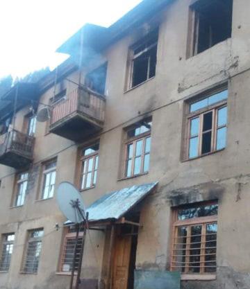 19 თებერვალს ლენტეხში საცხოვრებელ შენობას ხანძარი გაუჩნდა