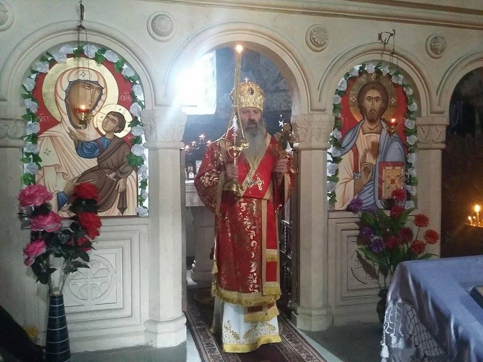 მეუფე ილარიონმა ამაღლების სადღესასწაულო წირვა ლატალის მაცხოვრის ამაღლების სახელობის ტაძარში აღავლინა