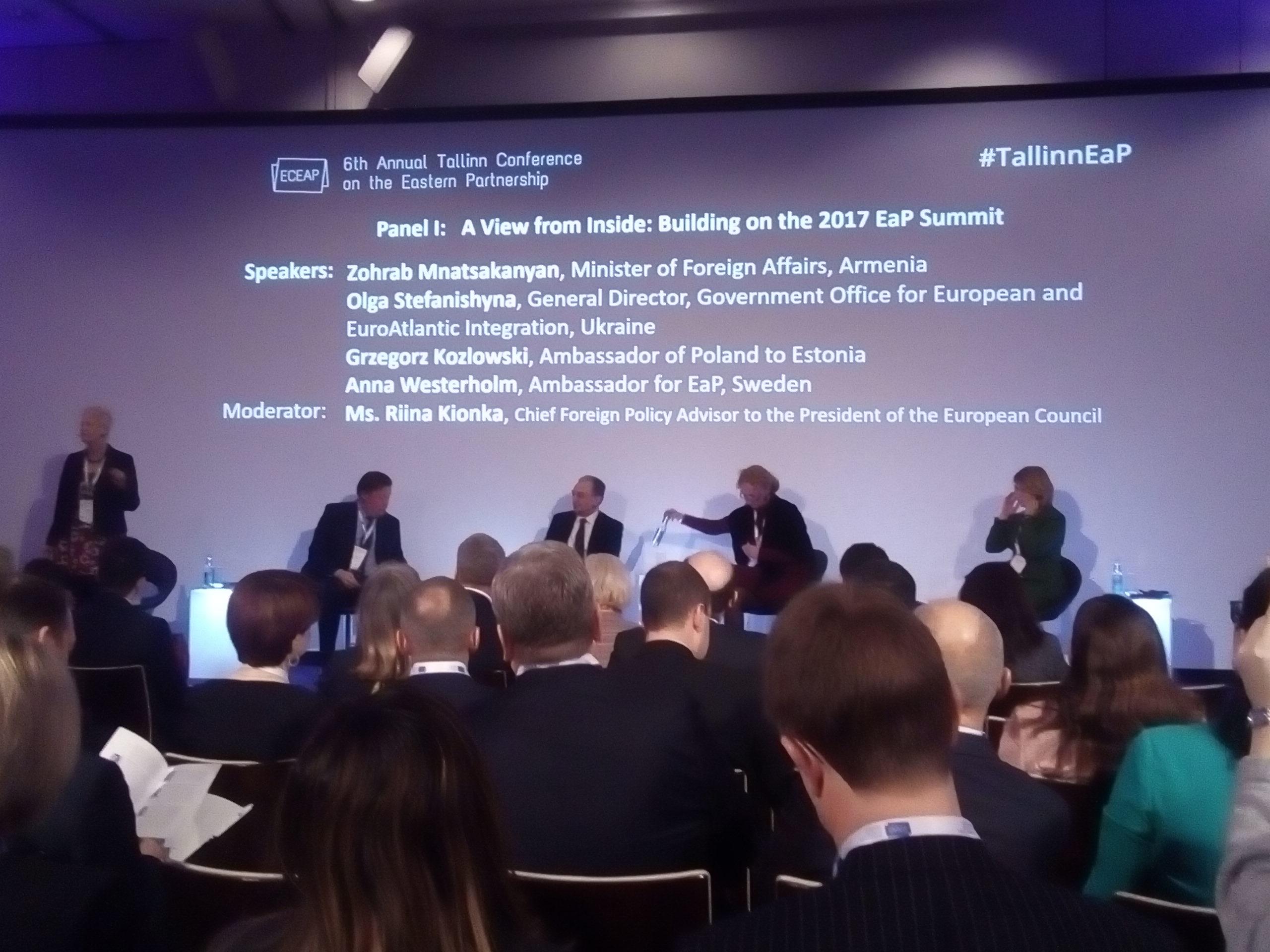 """""""საქართველო უნდა იყოს მზად იმ მომენტისათვის როცა ევროკავშირი კარს გაუღებს"""" – განაცხადა ტალინის კონფერენციაზე მიხეილ ჯანელიძემ"""